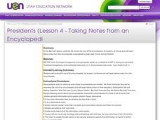 Presidents Lesson Plan