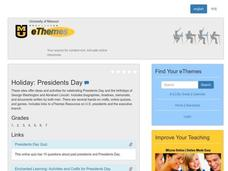 Presidents Day Lesson Plan