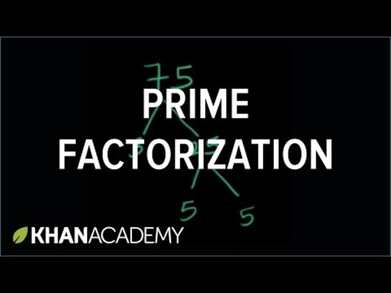 Prime Factorization Video