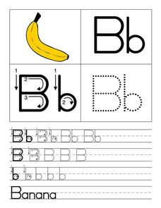 Printing Letter Bb Worksheet