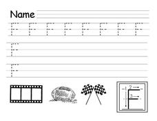 Printing Practice Letter F Lesson Plan