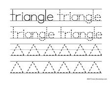 Printing Practice: Triangle Worksheet