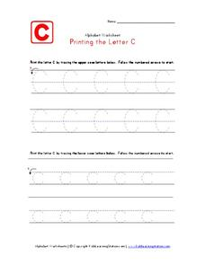 Printing the Letter C Worksheet