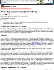 Promoting Yourself Through Advertising Lesson Plan