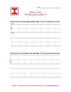 Printing the Letter Ii Worksheet