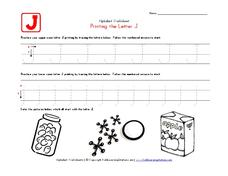 Printing the Letter J Worksheet