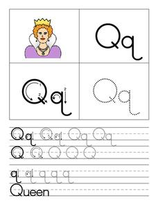 Printing the Letter Qq Worksheet