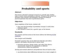 Probability and Sports Lesson Plan