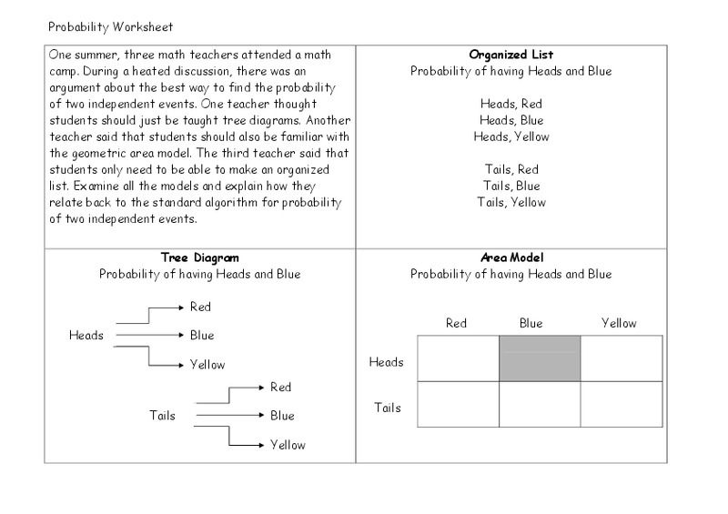probability worksheet worksheet for 6th 9th grade lesson planet. Black Bedroom Furniture Sets. Home Design Ideas