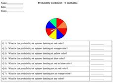 Probability Worksheet Worksheet
