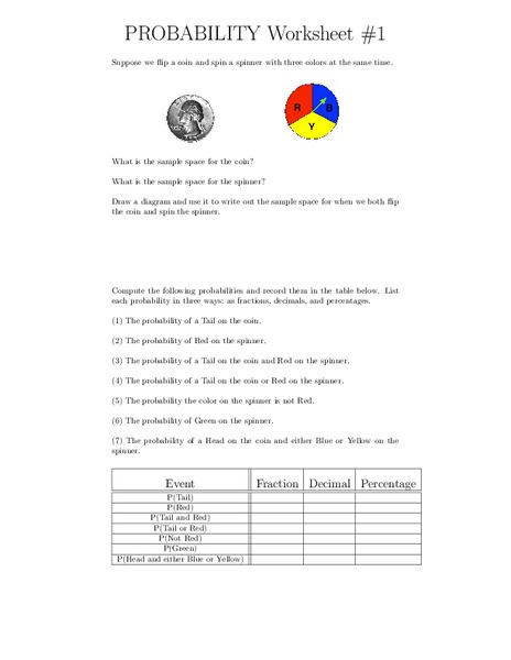 probability worksheets worksheet for 6th 8th grade lesson planet. Black Bedroom Furniture Sets. Home Design Ideas