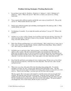 Problem Solving Strategies Worksheet