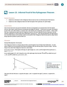 Informal Proof of the Pythagorean Theorem Lesson Plan