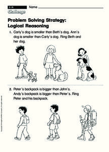 Problem Solving Strategy: Logical Reasoning Worksheet