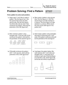 Problem Solving: Find a Pattern Worksheet