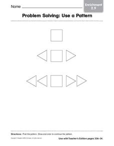 Problem Solving: Use a Pattern Worksheet