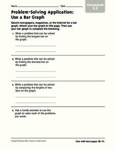 Problem Solving: Use a Bar Graph Worksheet