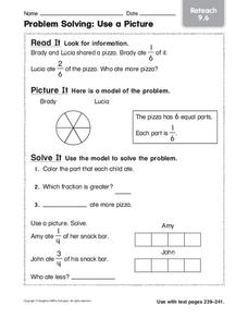 Problem Solving: Use a Picture Worksheet