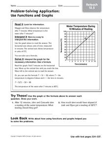 Problem-Solving Applications: Use Functions and Graphs Worksheet