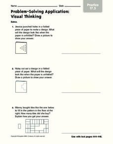 Problem-Solving Application: Visual Thinking Worksheet