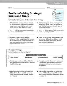 problem solving strategy guess and check