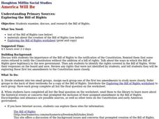 Exploring the Bill of Rights Lesson Plan