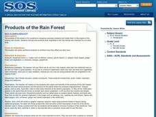 Products of the Rain Forest Lesson Plan