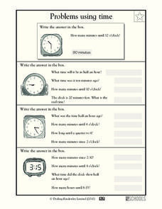 Problems Using Time Worksheet