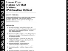 Making Art That Matters (Printmaking Option) Lesson Plan