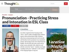 Pronunciation: Practicing Stress and Intonation Lesson Plan