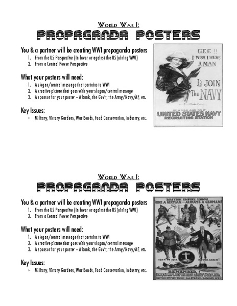Propaganda Poster Activities & Project