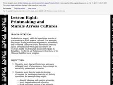 LESSON EIGHT: PRINTMAKING AND MURALS ACROSS CULTURES Lesson Plan