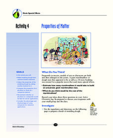Properties of Matter Activities & Project