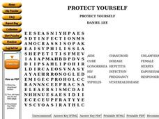 Protect Yourself Worksheet