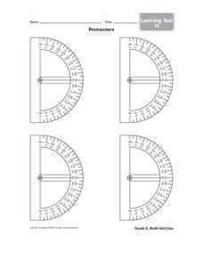Protractors Printables & Template