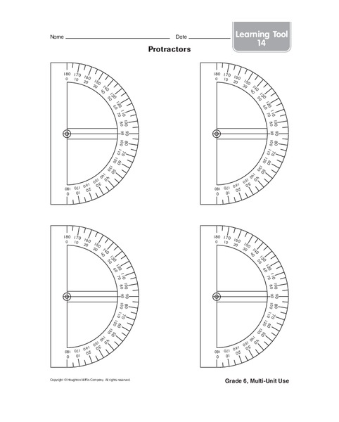 graphic relating to Printable Protractors identify Protractors Printables Template for 4th - 6th Quality