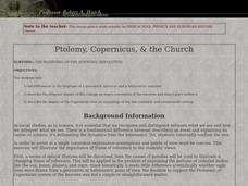 Ptolemy, Copernicus, & the Church Lesson Plan