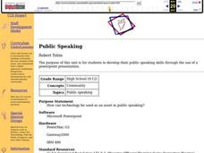 Public Speaking Lesson Plan