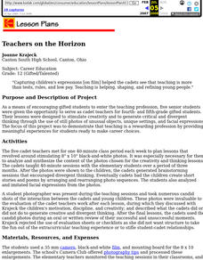 Teachers on the Horizon Lesson Plan