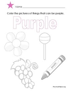 Purple Lesson Plan