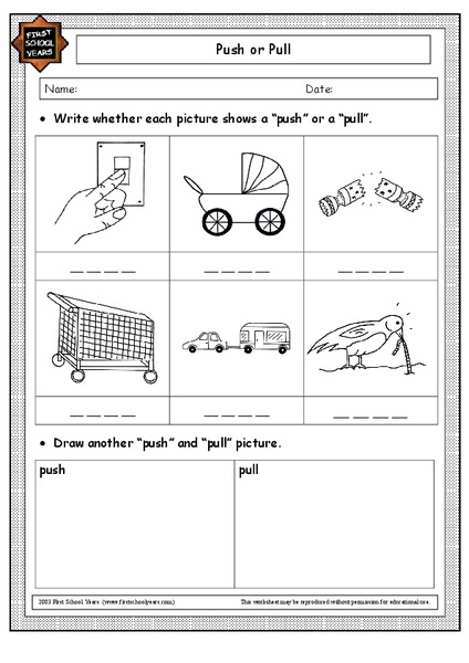 Push Or Pull Worksheet Free Worksheets Library   Download and ...