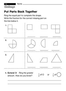 Put Parts Back Together Worksheet