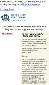 Putting Wisconsin's Stamp on History Lesson Plan
