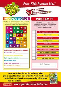 Puzzle Fun for Kids Worksheet