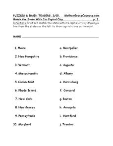 Puzzles and Brain Teasers Worksheet for 5th - 6th Grade ...