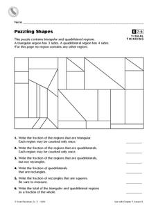 Puzzling Shapes Worksheet