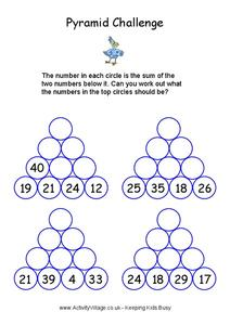 Pyramid Challenge Worksheet