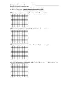 Distance Formulas Perimeter Lesson Plans & Worksheets