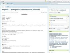 Pythagorean Theorem Word Problems Lesson Plan