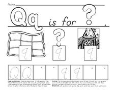 Q is For Worksheet